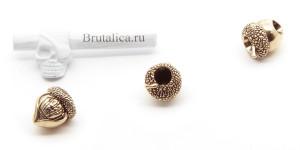 бусина орех Belka-Nut brass