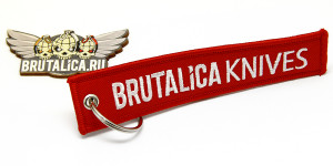 авиационный ярлык Brutalica Knives red