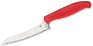 Spyderco Z-cut red serrated