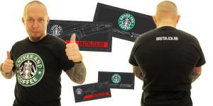 футболка Knives and Coffee